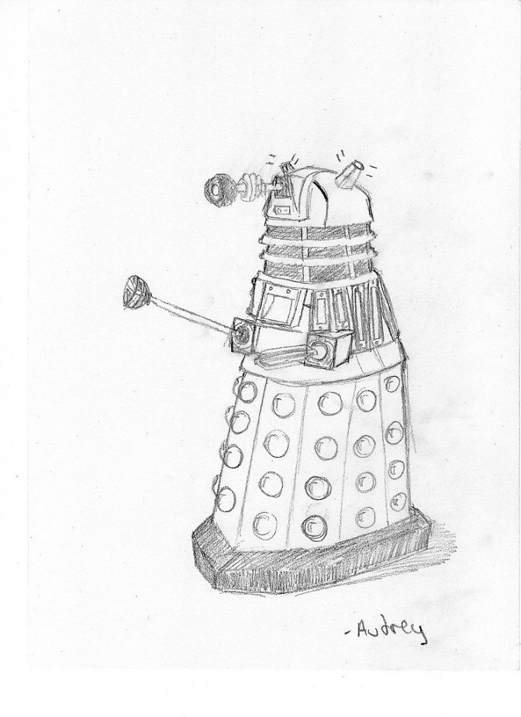 She drew this Dalek for her Dad