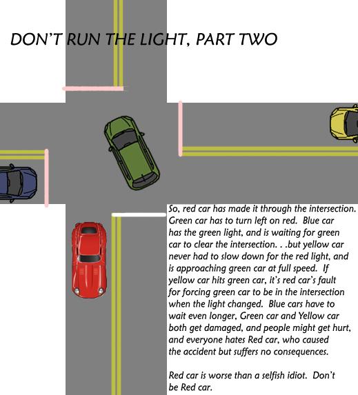 don't run the yellow 2