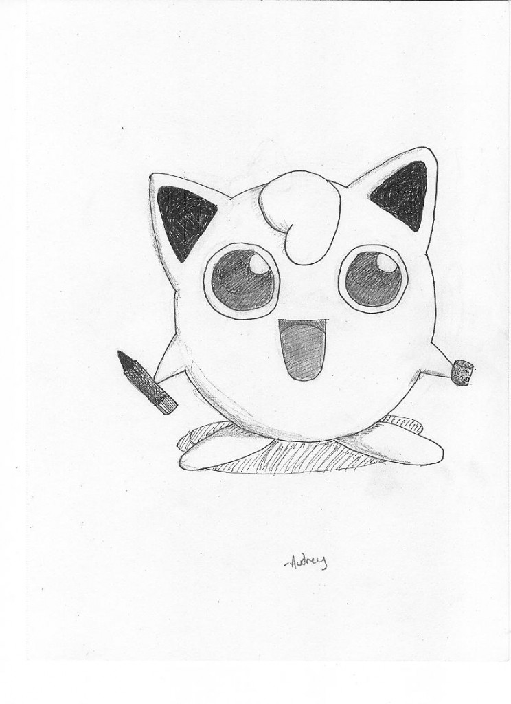Jigglypuff for me, all ready to draw on people's faces!