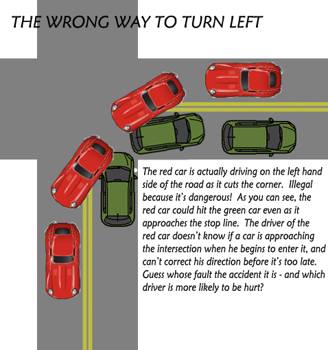 wrong way to turn